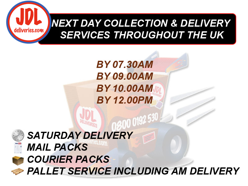 JDL Deliveries collection times